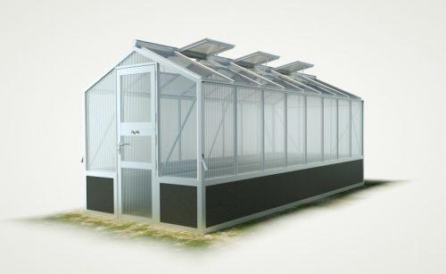 WAMA Hochbeet-Gewächshaus Mini 80 inkl. Hochbeet – 10.50m² <br>(B: 208cm X L: 505cm)
