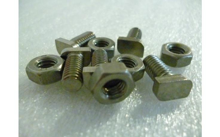 edelstahlhalbkopfschrauben mit muttern 2 - 20er Pack 12mm Edelstahl-Halbkopfschrauben