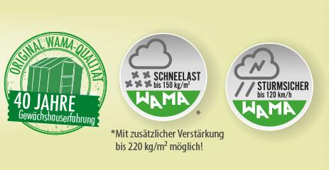 profi XL mauer 2 - WAMA Mauer-Gewächshaus Profi XL 140 - 33.37m²
