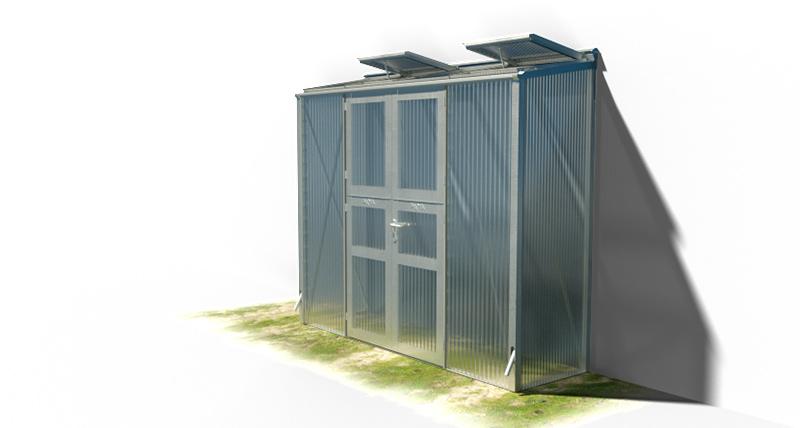 wama gewaechshaus pflanzenhaus anlehn 14 1 - WAMA Gewächshaus Anlehn-Tomatenhaus TH A 14 mit Doppeltür, 2.08m² <br> (B: 81cm X L: 258cm)