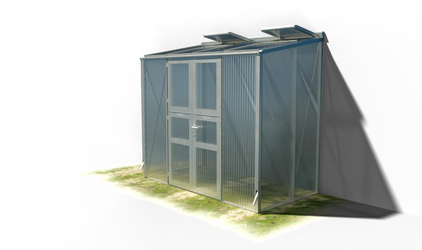 wama gewaechshaus pflanzenhaus anlehn 14 - WAMA Gewächshaus Anlehn-Tomatenhaus TH A 24 mit Doppeltür, 3.37m² <br> (B: 131cm X L: 258cm)