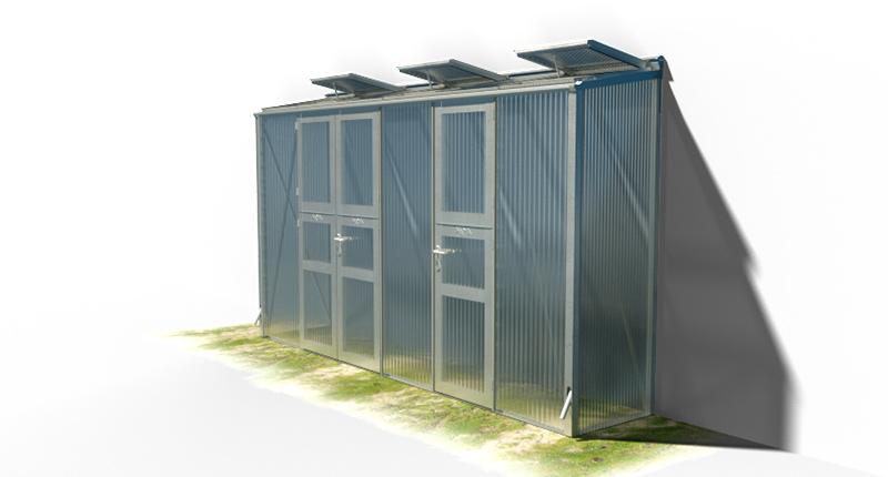 wama gewaechshaus pflanzenhaus anlehn 16 1 - WAMA Gewächshaus Anlehn-Tomatenhaus TH A 16 mit Doppeltür und Einzeltür, 3.08m² <br> (B: 81cm X L: 381cm)