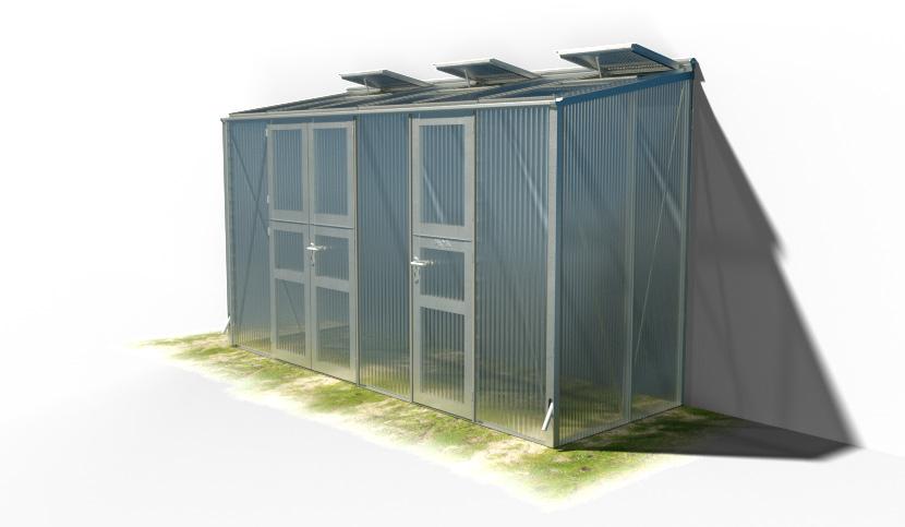 wama gewaechshaus pflanzenhaus anlehn 16 - WAMA Gewächshaus Anlehn-Tomatenhaus TH A 26 mit 1 Doppeltür + 1 Einzeltür, 4.99m² <br> (B: 131cm X L: 381cm)