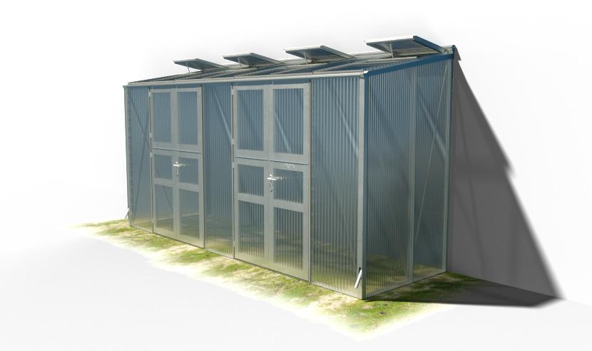 wama gewaechshaus pflanzenhaus anlehn 17 - WAMA Gewächshaus Anlehn-Tomatenhaus TH A 27 mit 2 Doppeltüren, 5.80m² <br> (B: 131cm X L: 443cm)