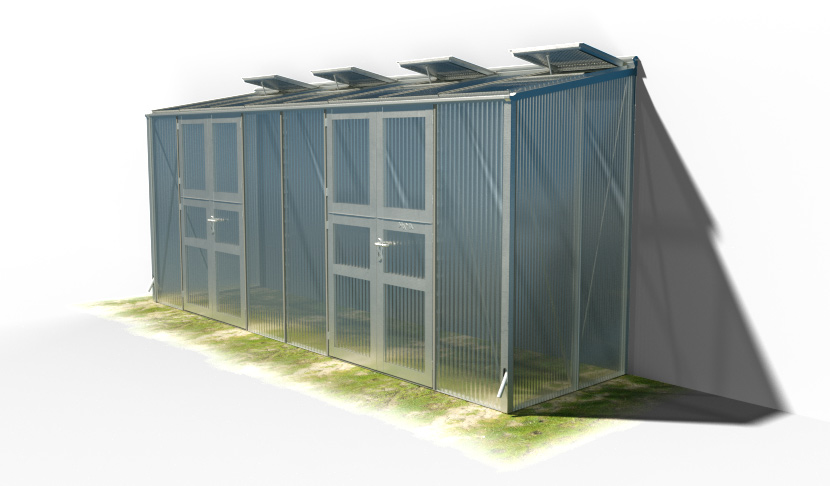 wama gewaechshaus pflanzenhaus anlehn 18 - WAMA Gewächshaus Anlehn-Tomatenhaus TH A 28 mit 2 Doppeltüren, 6.61m² <br> (B: 131cm X L: 505cm)