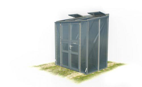 wama gewaechshaus pflanzenhaus freistehend 13 v2 500x307 - WAMA Gewächshaus Anlehn-Tomatenhaus TH A 23/V 2 mit Doppeltür, 2.56m² <br> (B: 131cm X L: 196cm)