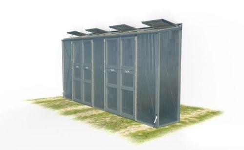 wama gewaechshaus pflanzenhaus freistehend 17 1 500x307 - WAMA Gewächshaus Freistehend-Tomatenhaus TH F 17 mit 2 Doppeltüren, 3.58m² <br> (B: 84cm X L: 443cm)