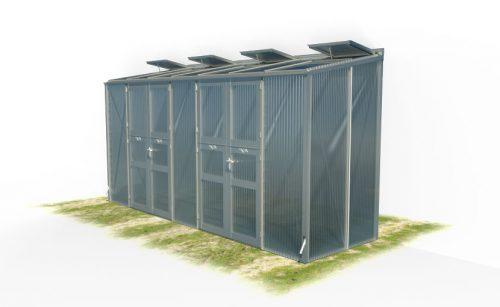 wama gewaechshaus pflanzenhaus freistehend 17 500x307 - WAMA Gewächshaus Freistehend-Tomatenhaus TH F 27 mit 2 Doppeltüren, 5.80m² <br> (B: 134cm X L: 443cm)