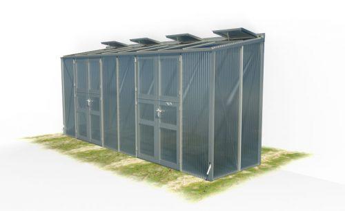 wama gewaechshaus pflanzenhaus freistehend 18 500x307 - WAMA Gewächshaus Freistehend-Tomatenhaus TH F 28 mit 2 Doppeltüren, 6.61m² <br> (B: 134cm X L: 505cm)