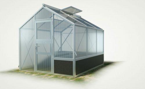 WAMA Hochbeet-Gewächshaus Tropic 12 mit einseitigem Hochbeet - 5.36m²