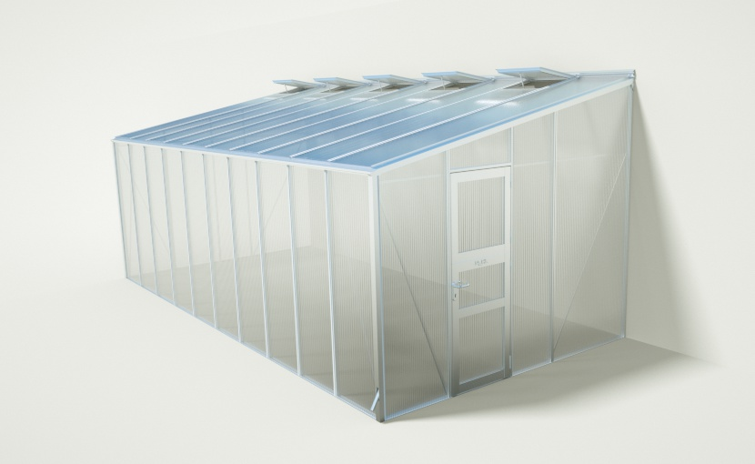 wama gewaechshaus anlehn c 100 - WAMA Anlehn-Gewächshaus AL C 100 – 19.87m²