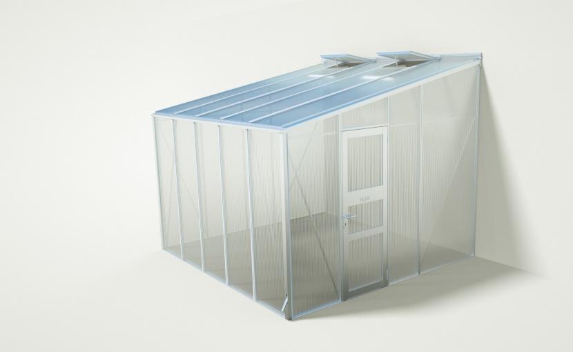 wama gewaechshaus anlehn c 50 - WAMA Anlehn-Gewächshaus AL C 50 – 10.10m²