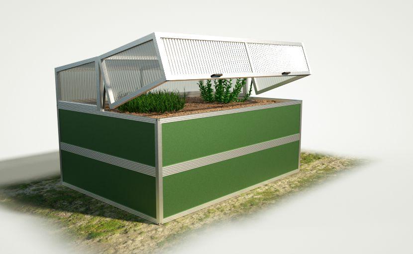 wama hochbeet 150 200 mit fr hbeet aufsatz wama. Black Bedroom Furniture Sets. Home Design Ideas