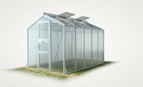 WAMA Gewächshaus Mini 50 – 6.66m² <br>(B: 208cm X L: 320cm)