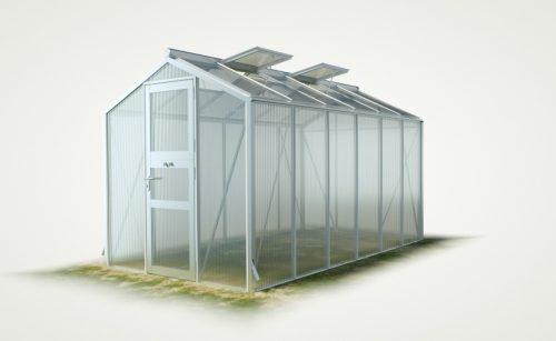 WAMA Gewächshaus Mini 60 – 7.92m² <br>(B: 208cm X L: 381cm)