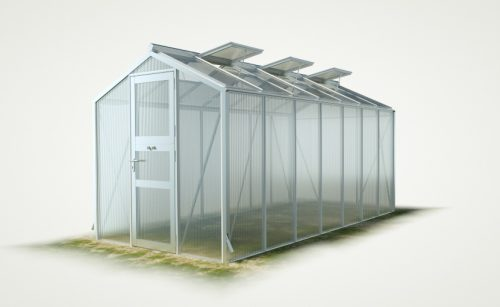 WAMA Gewächshaus Mini 70 – 9.21m² <br>(B: 208cm X L: 443cm)