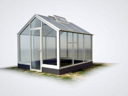 WAMA Mauer-Gewächshaus Flora 13 – 8.34m², 2 Fenster
