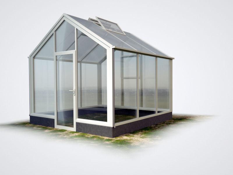 WAMA Mauer-Gewächshaus Flora 23 – 9.51m², 2 Fenster