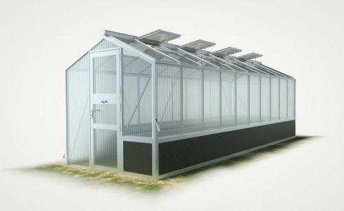 WAMA Hochbeet-Gewächshaus Mini 100 mit einseitigem Hochbeet – 13.08m² <br>(B: 208cm X L: 629cm)