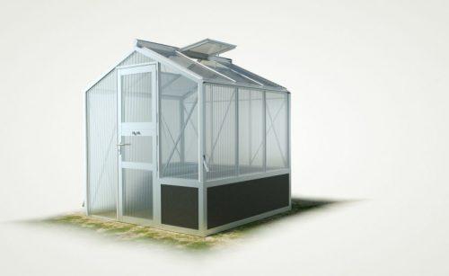 WAMA Hochbeet-Gewächshaus Mini 30 mit einseitigem Hochbeet – 4.08m² <br>(B: 208cm X L: 196cm)