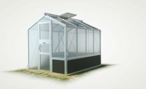WAMA Hochbeet-Gewächshaus Mini 40 mit einseitigem Hochbeet – 5.37m² <br>(B: 208cm X L: 258cm)