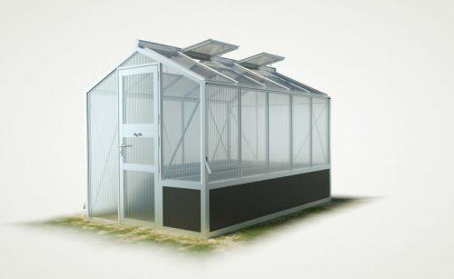 WAMA Hochbeet-Gewächshaus Mini 50 mit einseitigem Hochbeet – 6.66m² <br>(B: 208cm X L: 320cm)