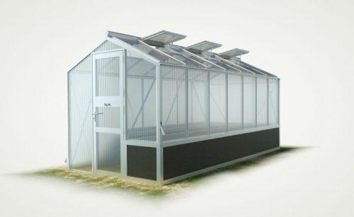 WAMA Hochbeet-Gewächshaus Mini 70 mit einseitigem Hochbeet – 9.21m² <br>(B: 208cm X L: 443cm)