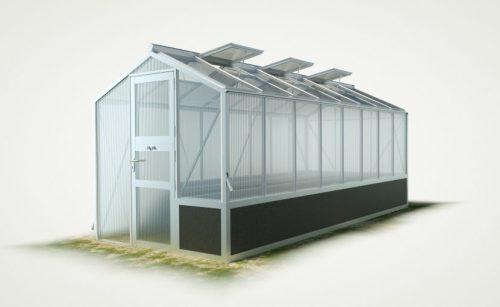 WAMA Hochbeet-Gewächshaus Mini 80 mit einseitigem Hochbeet – 10.50m² <br>(B: 208cm X L: 505cm)