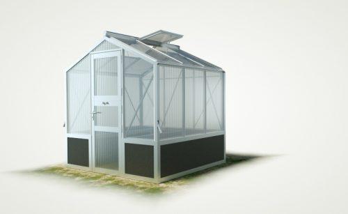 WAMA Hochbeet-Gewächshaus Mini 30 inkl. Hochbeet – 4.08m² <br>(B: 208cm X L: 196cm)