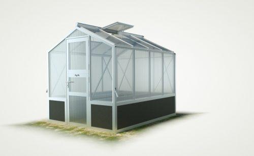 WAMA Hochbeet-Gewächshaus Mini 40 inkl. Hochbeet – 5.37m² <br>(B: 208cm X L: 258cm)