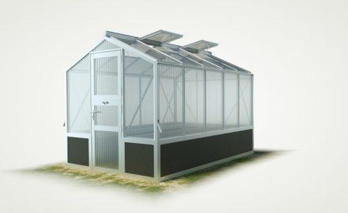 WAMA Hochbeet-Gewächshaus Mini 50 inkl. Hochbeet – 6.66m² <br>(B: 208cm X L: 320cm)