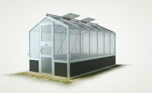 WAMA Hochbeet-Gewächshaus Mini 60 inkl. Hochbeet – 7.92m² <br>(B: 208cm X L: 381cm)