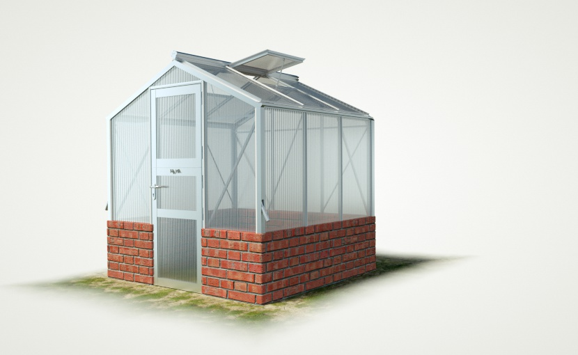 wama mauer gewaechshaus mini 30 - WAMA Mauer-Gewächshaus Mini 30 – 4.08m² (B: 208cm X L: 196cm)