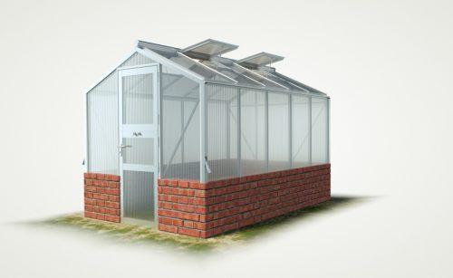 wama mauer gewaechshaus mini 50 500x307 - WAMA Mauer-Gewächshaus Mini 50 – 6.66m² (B: 208cm X L: 320cm)