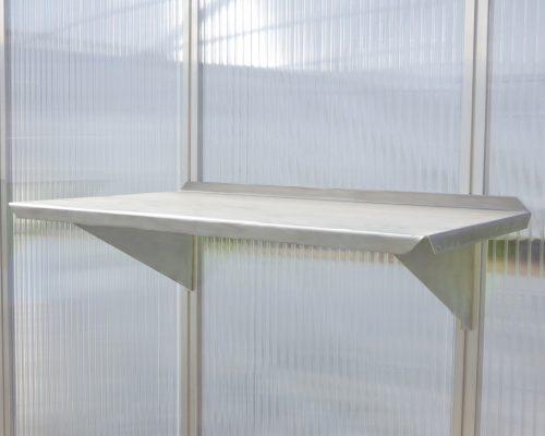 Ablageregal 42cm 500x400 - Ablageregal mit Alu-Ablage (bestehend aus 2 Regalträgern mit passender Ablage)
