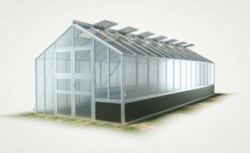 WAMA Hochbeet-Gewächshaus Profi 140 mit einseitigem Hochbeet - 28.11m²