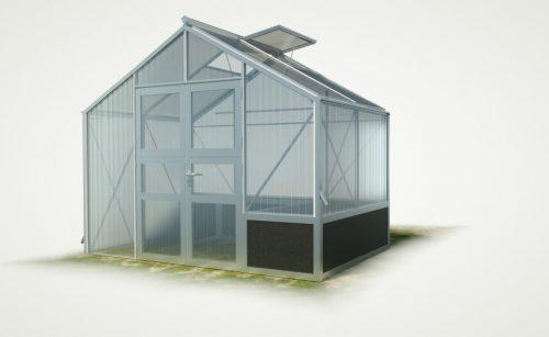 WAMA Hochbeet-Gewächshaus Tropic 22 mit einseitigem Hochbeet - 6.51m²