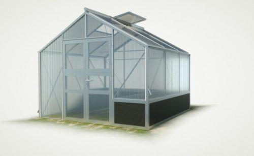 WAMA Hochbeet-Gewächshaus Tropic 23 mit einseitigem Hochbeet - 9.60m²