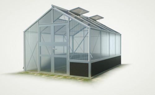 WAMA Hochbeet-Gewächshaus Tropic 24 mit einseitigem Hochbeet - 12.70m²