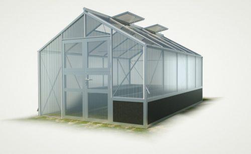 WAMA Hochbeet-Gewächshaus Tropic 25 mit einseitigem Hochbeet - 15.80m²
