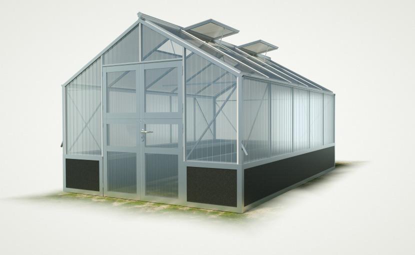 WAMA Hochbeet-Gewächshaus Tropic 25 inkl. Hochbeet – 15.80m²