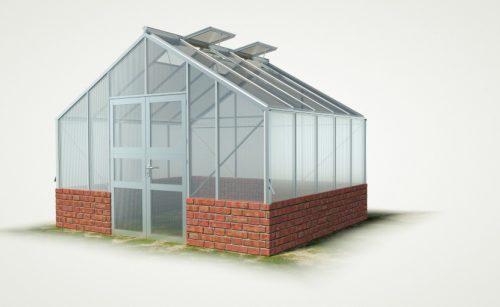 WAMA Mauer-Gewächshaus Profi XL 50 - 12.19m²