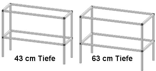 PT20 - Pflanz- und Arbeitstisch <br> Länge: 124 cm