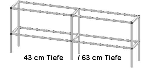 PT40 3 - Pflanz- und Arbeitstisch <br> Länge: 245 cm