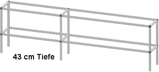 PT50402 1 - Pflanz- und Arbeitstisch <br> Länge: 304 cm