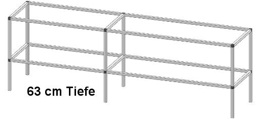 PT50602 1 - Pflanz- und Arbeitstisch <br> Länge: 284 cm