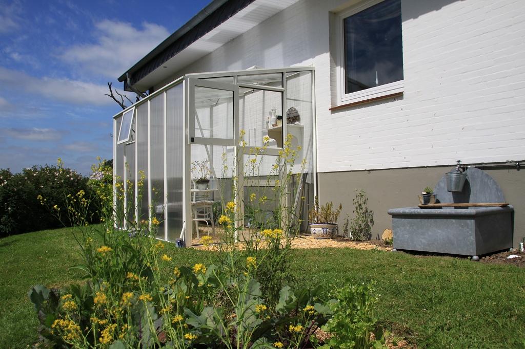 AL A 50 Türgiebel mit Glas sonst 16mm Stegdreifachplatten - Anlehn-Gewächshaus